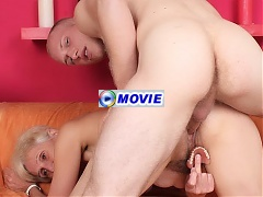 Slutty granny Irene hooks up with a stranger and gets her old snatch fucked after teasing his cock