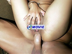 Intense hardcore action with big boobed Latina Havana Ginger spreading her ass for a cock
