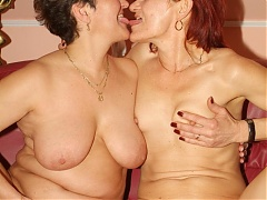 Steph and Julianna are experienced mature gals having a lesbian show in front of a webcam