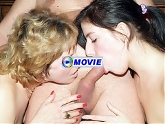Martha is the chubby older woman sharing a cock with a younger woman during a webcam show