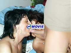 Agnes and Marsha are experienced mature ladies having a nice threesome in front of a live cam
