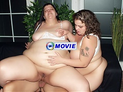 Margaret and Agnes are heavyweight hotties enjoying a nice threesome with a younger guy